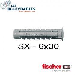 Pack 30 - chevilles expansion nylon Fischer SX - 6x30