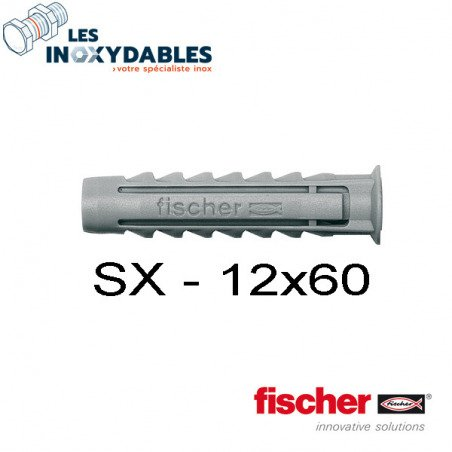 Pack 6 chevilles expansion nylon Fischer SX - 12x60