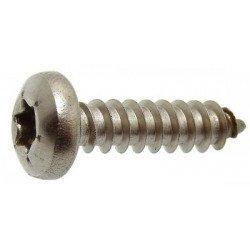 Vis à tôle INOX A2 tête cylindrique empreinte torx - DIN 7981 type TC
