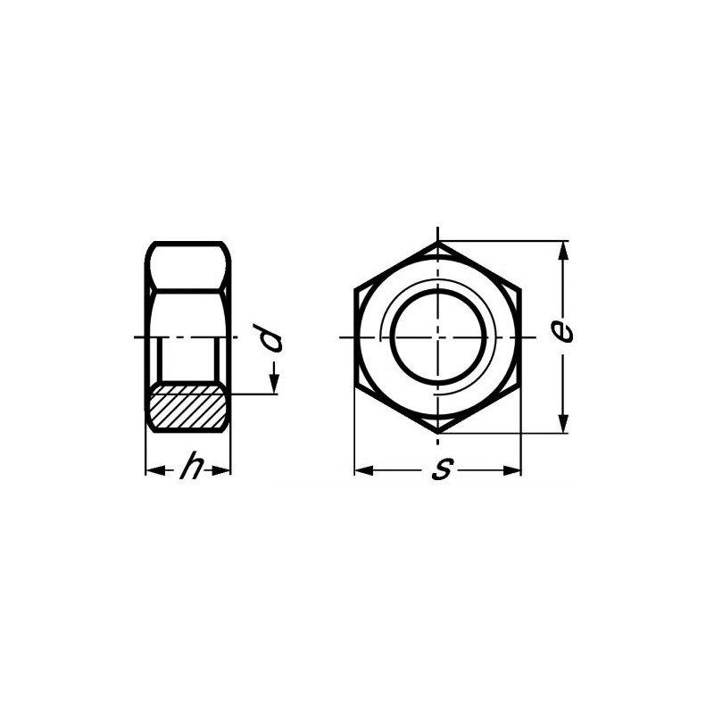 Ecrou - Hexagonal - HU - DIN 934 - INOX A4