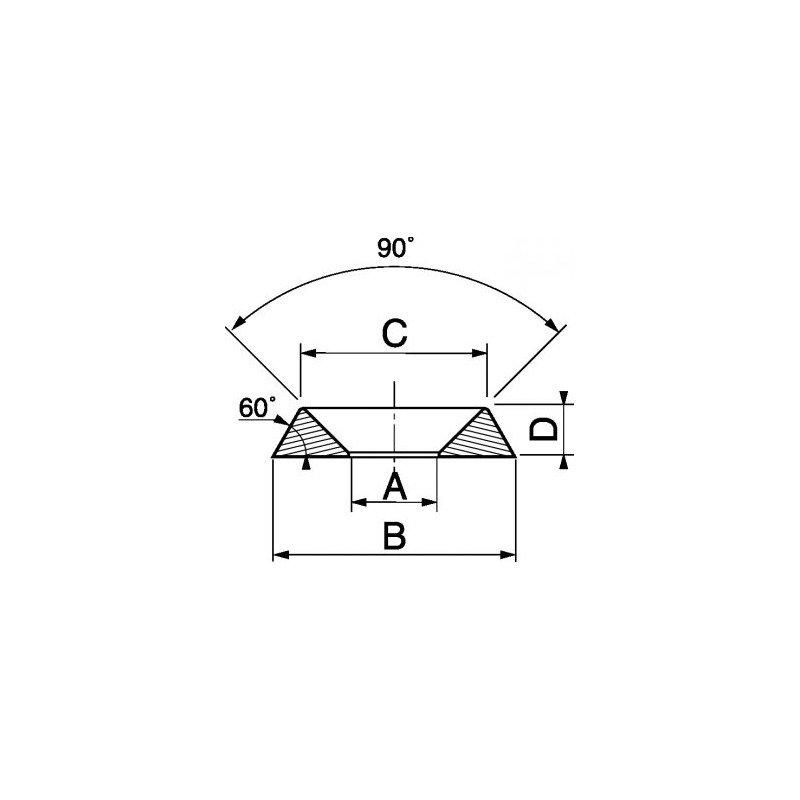 Rondelle cuvette décolletée INOX A4 - norme NFE 27619