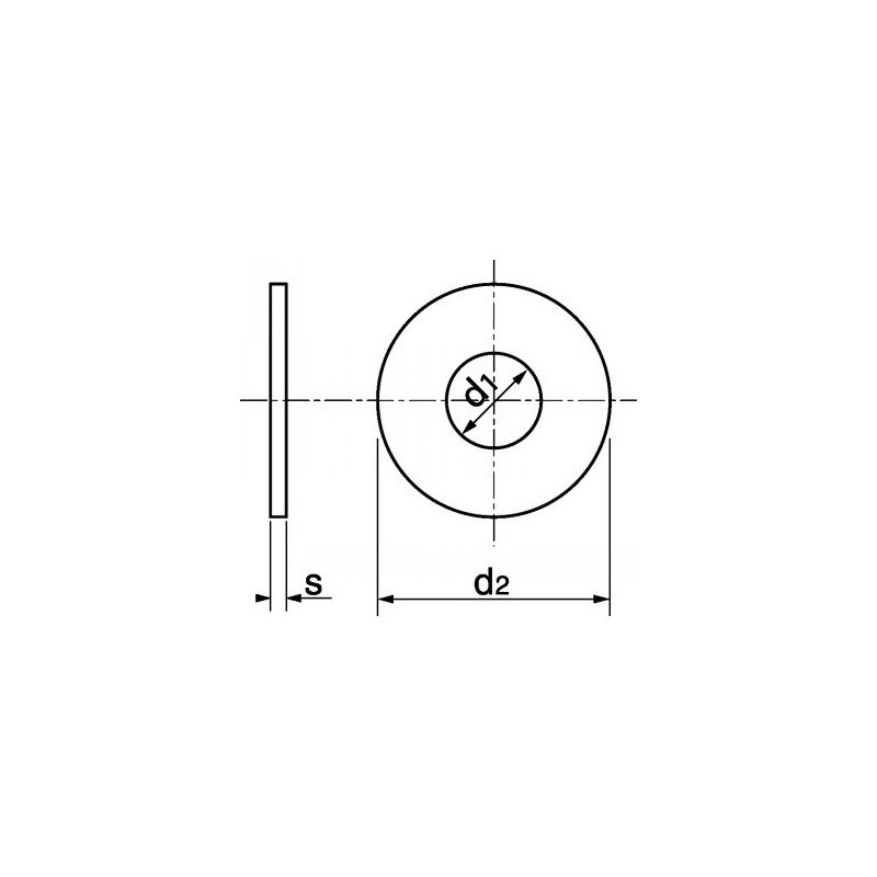 Rondelle plate large LU en INOX A4 - norme NFE-25513