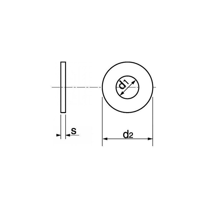 Rondelle moyenne MU INOX A4 - norme NFE 25514 25513 M