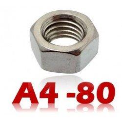 Ecrou hexagonal INOX A4 - 80 din 934 type HU