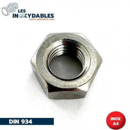 Ecrous - Hexagonal - HU - DIN 934 - INOX A4