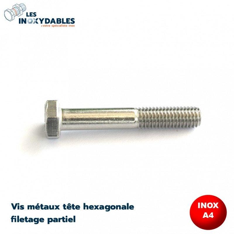 VIS METAUX TETE HEXAGONALE TH 12X120 INOX A4