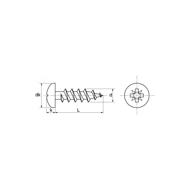 Vis bois tête cylindrique pozidrive INOX A4