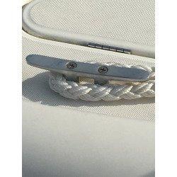 Taquet plat à vis passante - 2 vis - INOX A4