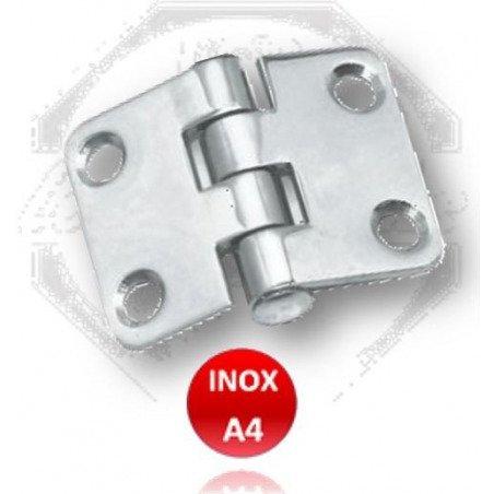 Charnière étroite égale - INOX A4 MARINE