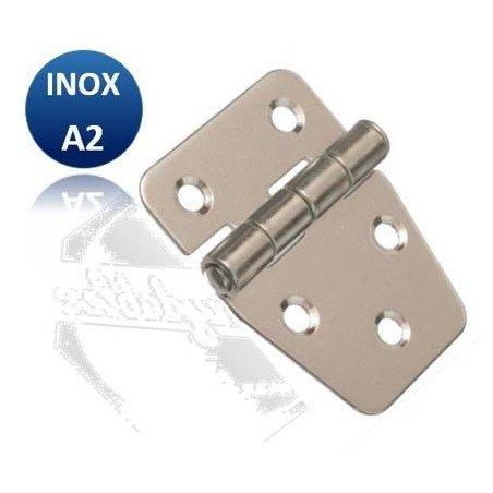 Charnière - INOX A2 - courte inégale
