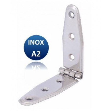 Charnière - INOX A2 - emboutie égale