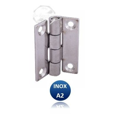 Charnière rectangulaire - INOX A2