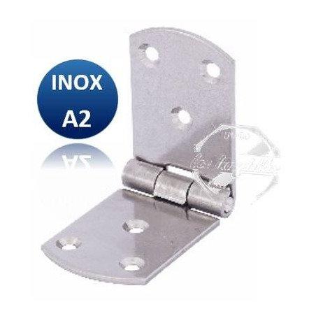 Charnière longue égale arrondie - INOX A2