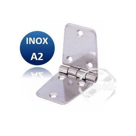 Charnière longue égale - INOX A2 100 x 40