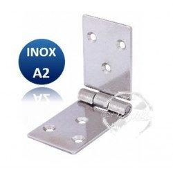 Charnière longue égale - INOX A2 - Epaisseur 1.5mm