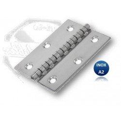 Charnière - INOX A2 - Type F épaisseur 1.5 mm
