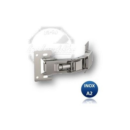 Charnière invisible bistable OUVERTURE 150° - INOX A2