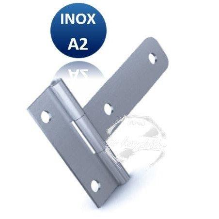 Charnière - INOX A2 - Débrochable (broche amovible)