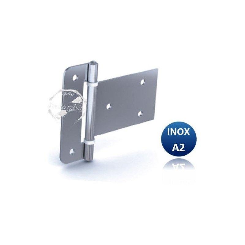 Charnière  - INOX A2 - Débrochable avec rondelle nylon