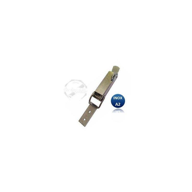 Sauterelle - fermeture  porte cadenas INOX A2 lg125xlarg23mm