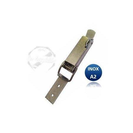 Sauterelle - fermeture porte cadenas INOX A2 - lg125 x larg23mm