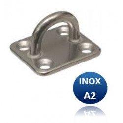 Pontet sur platine carré - INOX A2