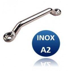 Pontet plat pour sangle - INOX A2