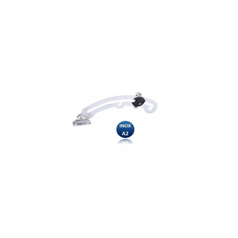 Compas à gorge d'arrêt courbe  - INOX A2 (G/D)