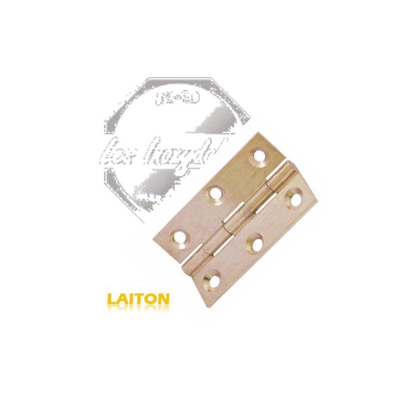 Charniere rectangulaire - LAITON