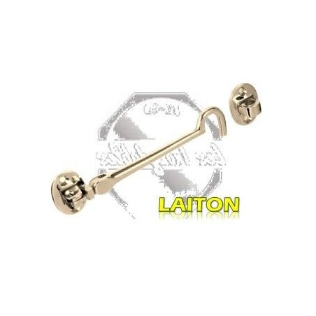 Crochet de contrevent articulé - LAITON