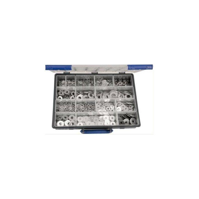 Coffret de 1530 rondelles - MU/LU/LLU/Grower - INOX A2