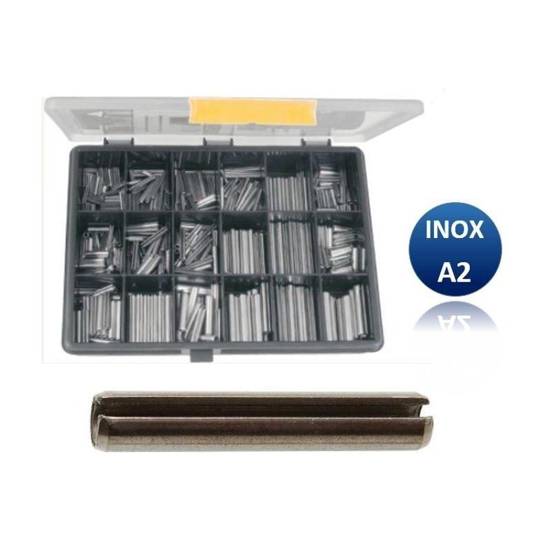 Coffret de 810 goupilles élastiques -  INOX A2