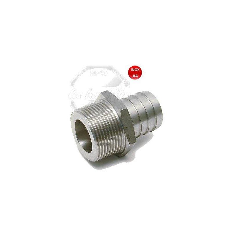 Raccord - embout pour tuyau cannelé - INOX A4