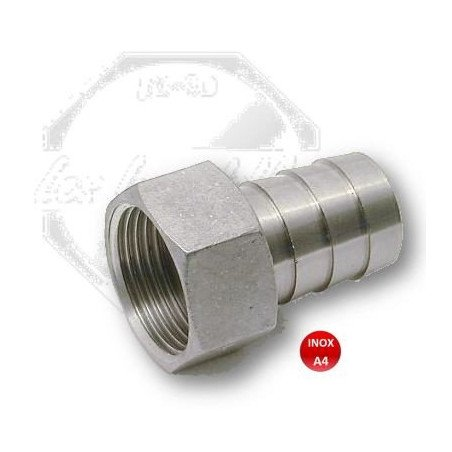 Raccord - embout pour tuyau femelle- INOX A4