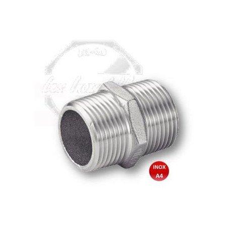 Mamelon male/male - M/M - INOX A4 316