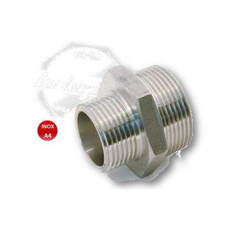 Réduction mâle / mâle usinée INOX A4 316