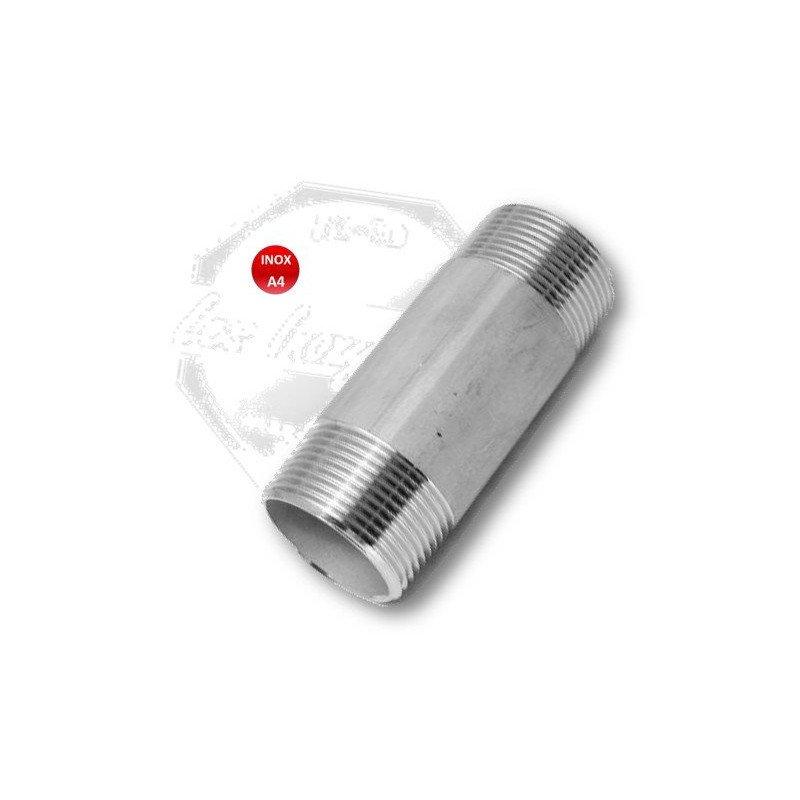 Raccord union femelle -  usinée INOX A4 316 (2 pièces)