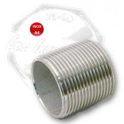 Tube fileté - INOX A4 -longueur 100mm - inox 316