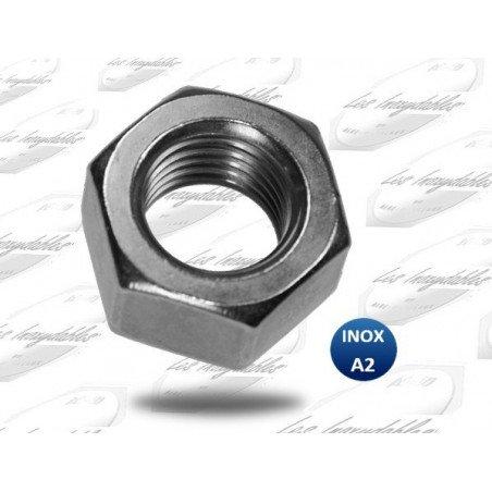 Ecrou hexagonal INOX A2 selon norme DIN 934 type HU
