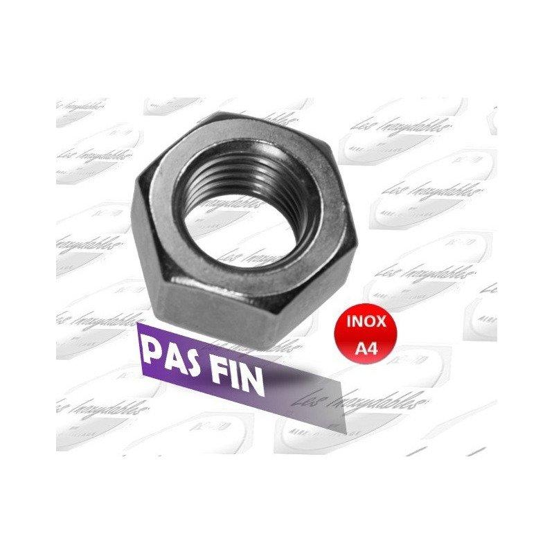 Ecrou hexagonal - filetage metrique PAS FIN - DIN 934 - INOX A4
