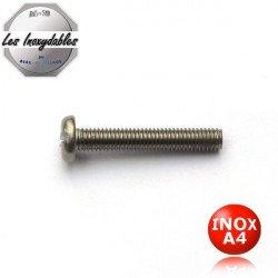 Vis metaux - tête cylindrique Large Fendue - INOX A4 - DIN85