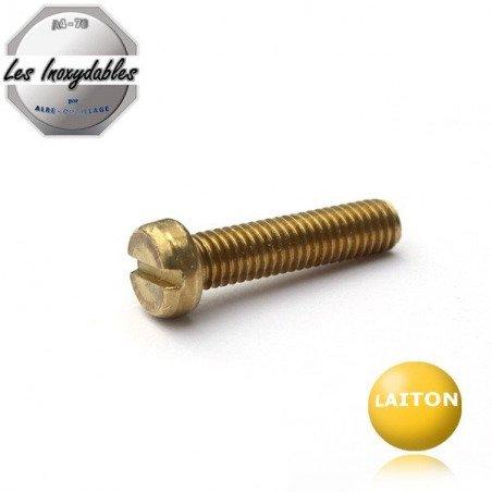 Vis metaux - tête cylindrique fendue - DIN84 - LAITON
