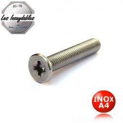 Vis métaux INOX A4 tête fraisée pozidrive DIN 965 type TFPZ