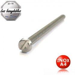 Vis métaux INOX A4 tête cylindrique fendue DIN 84 Type TCF