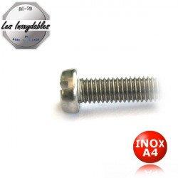 """Vis metaux """"TCF"""" - tête cylindrique fendue - DIN 84 - Inox A4"""