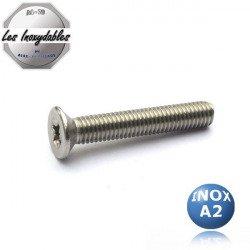 Vis métaux tête fraisée pozidrive - INOX A2 - DIN 965 type TFPZ
