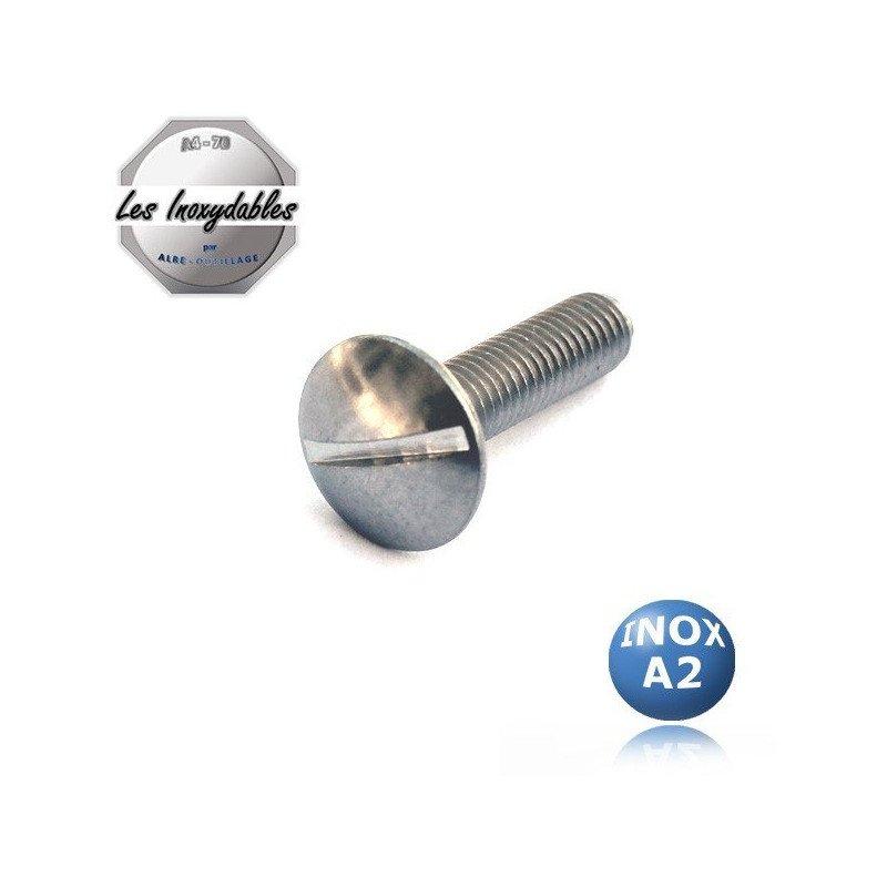 Vis metaux tête ronde large POELIER - TRLF - INOX A2