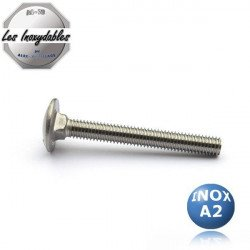 Vis métaux TRCC tête ronde collet carré INOX A2 - selon DIN 603