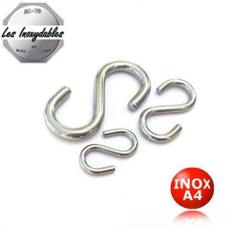 Crochet esse symetrique - INOX A4 marine 316