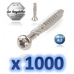 1000 Vis terrasse - tête fraisée réduite - TF - INOX A2 (vendu avec embout torx)